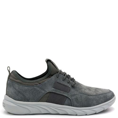 Men's grey leather suede sneaker