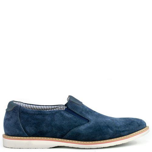 Δερμάτινο παπούτσι μπλέ