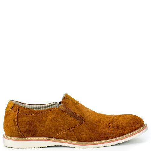 Leather tabacco shoe