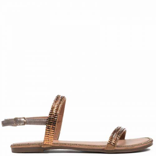 Bronze sandal with stones