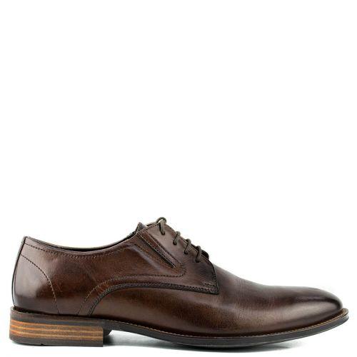 Men's brown leather derby shoe