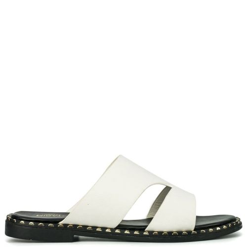 White sandal with studs