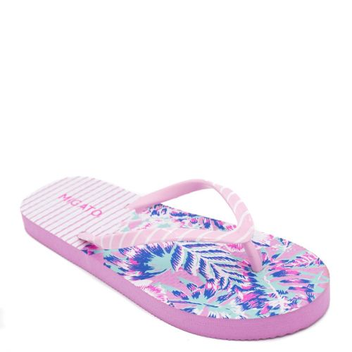 Women's pink flip-flop with stripes