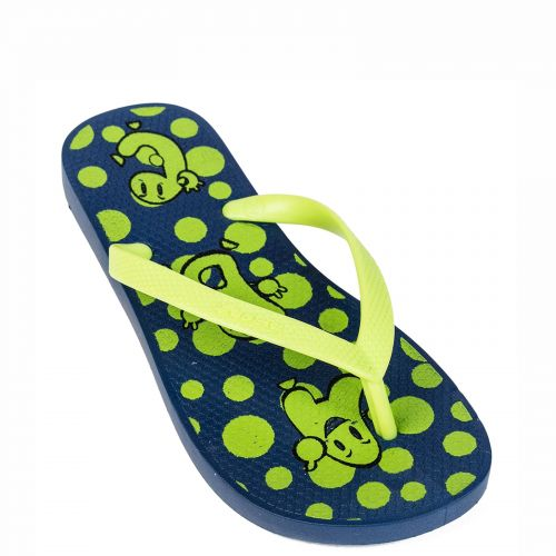 Kid's  green flip flops with letter print