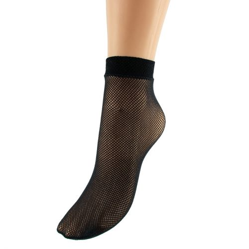 Black fishnet ankle socks