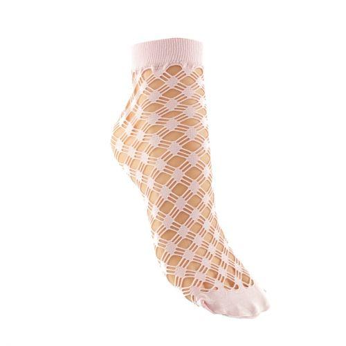 Pink fishnet ankle sock