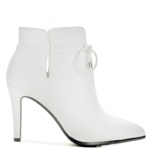 White high heel bootie