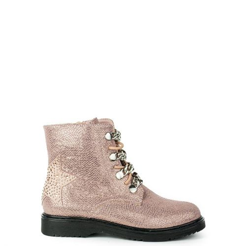 Kid's pink bootie with chains