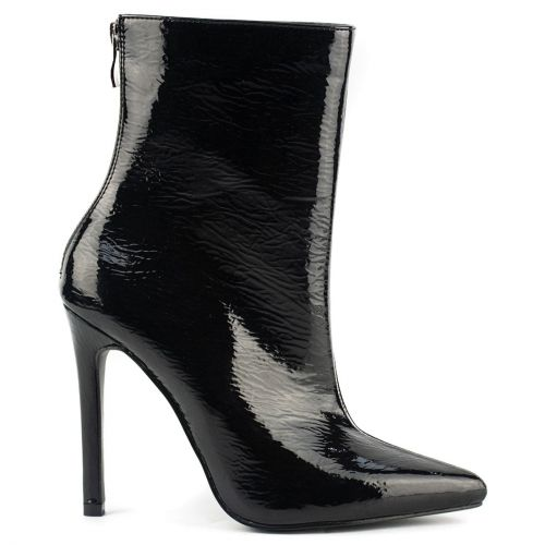 Black high heel bootie
