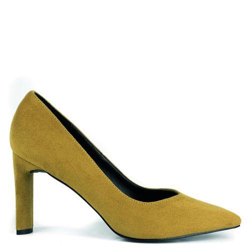 Κίτρινη σουέντ γόβα