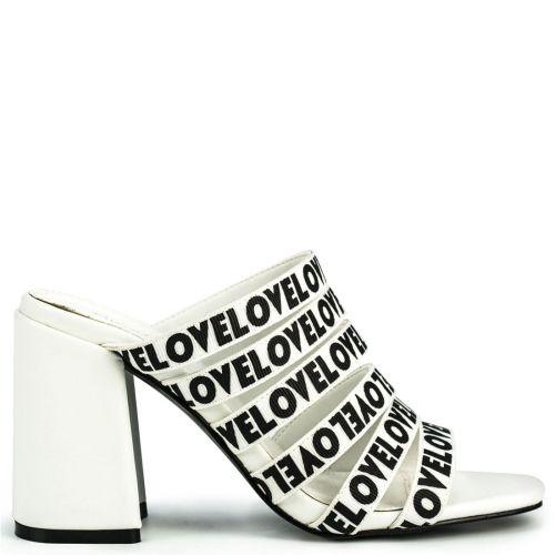 White multistrap sandal