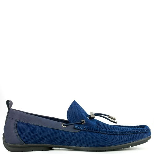 Mocassin driver in technical navy fabric