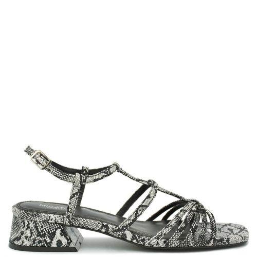 White snakeskin sandal