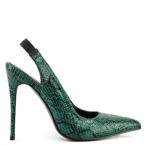 Πράσινη snakeskin γόβα