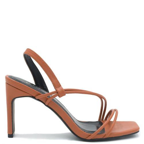 Orange multistrap sandal