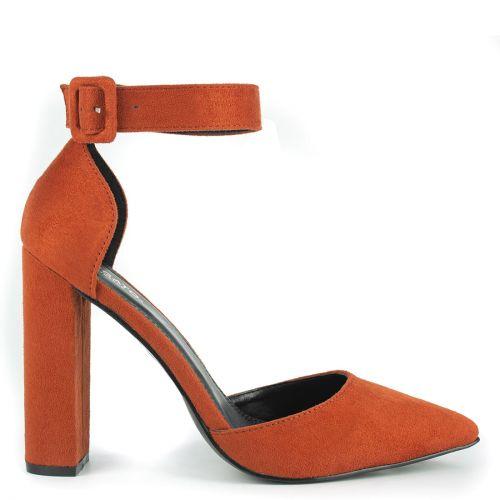 Orange pump with strap