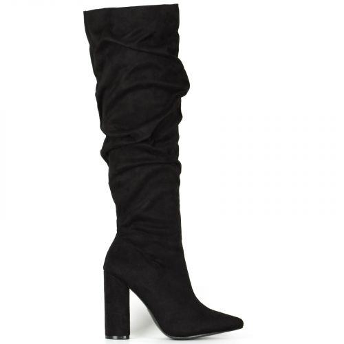 Μαύρη σουέντ μπότα