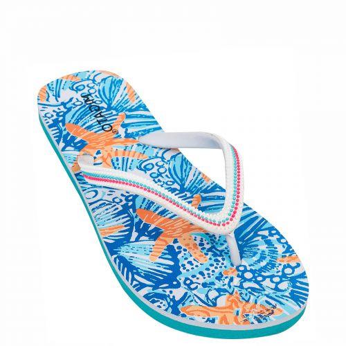 Women's white flip flops