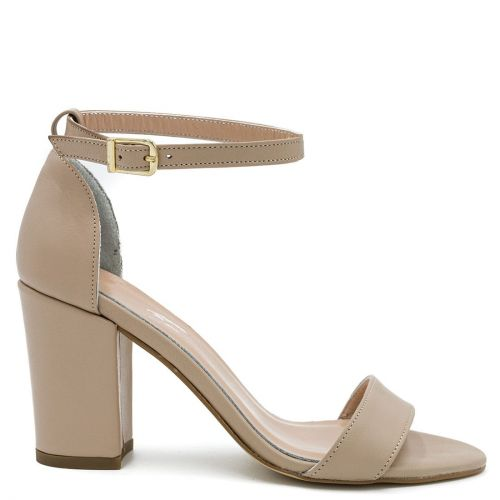 Nude leather sandal