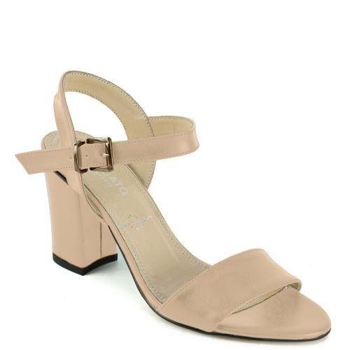 Nude leather suede sandal