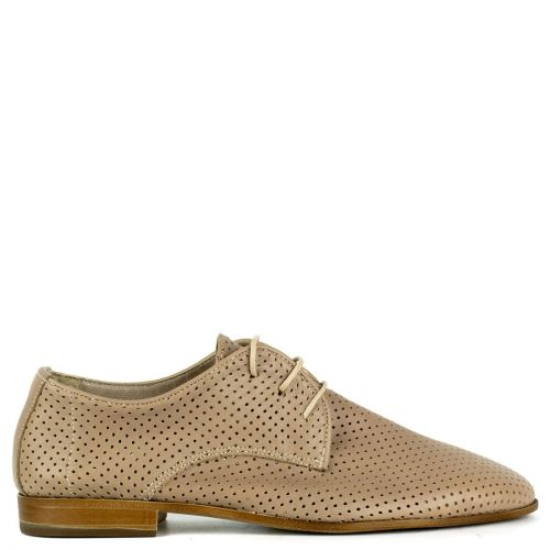 Taupe leather Oxford