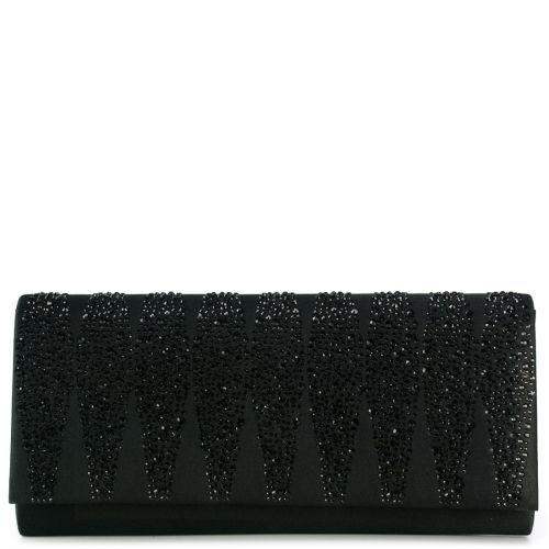 Black envelope with rhinestones