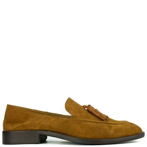 Leather tabacco formal moccasin