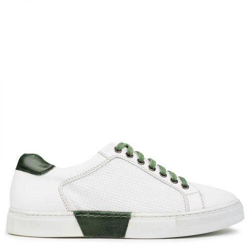 Λευκό-πράσινο ανδρικό sneaker