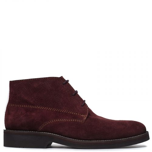 Men's burgundy leather boot
