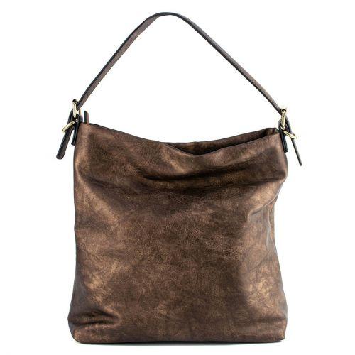 Μπρονζέ μεταλλική τσάντα hobo