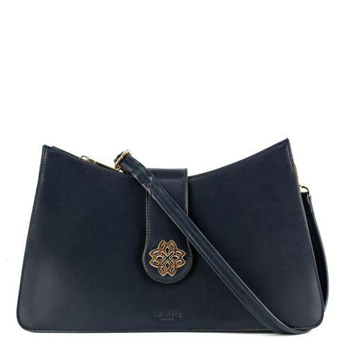Μπλέ τσάντα με φερμουάρ