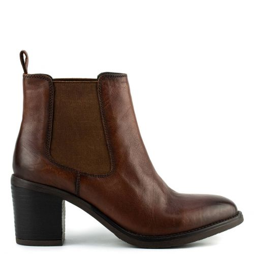 Brown western bootie