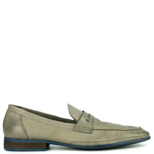 Leather grey formal moccasin