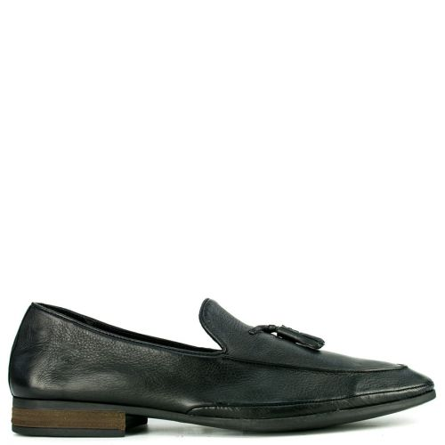 Leather black formal moccasin
