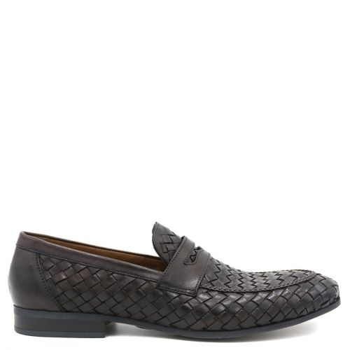 Men's woven leather loafer
