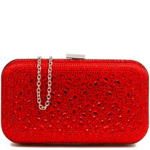 Κόκκινο clutch με στρας