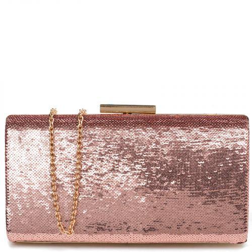 Ροζ clutch με πούλιες