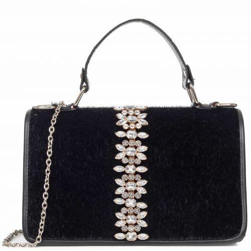 Μαύρη τσάντα με στρας