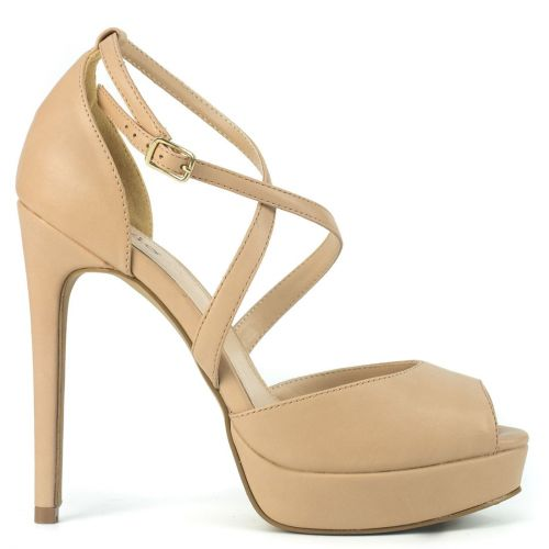 Nude high heel sandal
