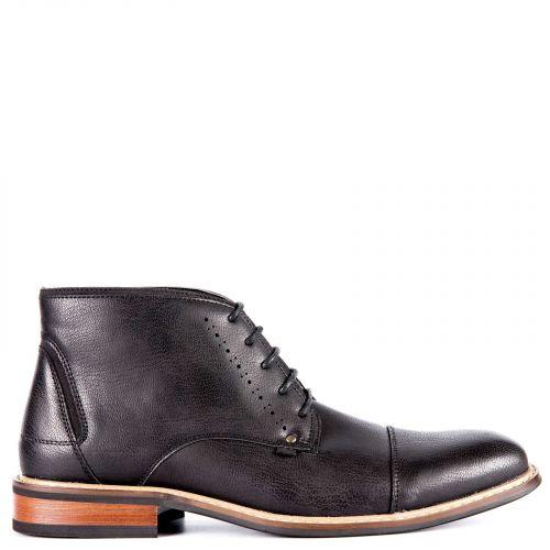 Black men's low cut boot
