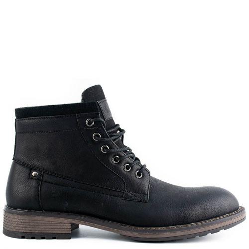 Men's black low cut boot