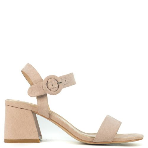 Nude sandal in suede