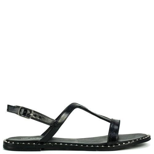 Black sandal with studs