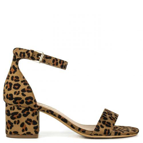 Leopard suede sandal