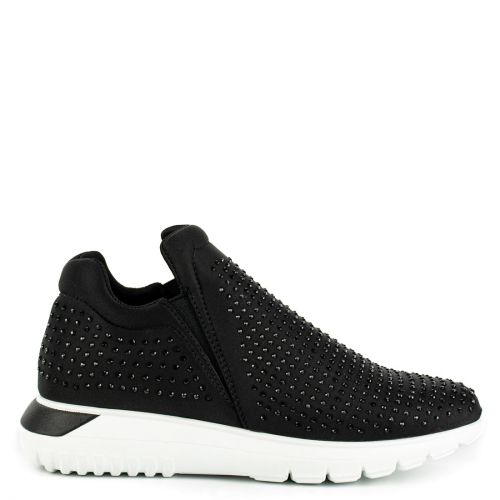 Black sneaker with rhinestones
