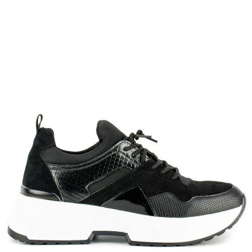 Black snakeskin sneaker