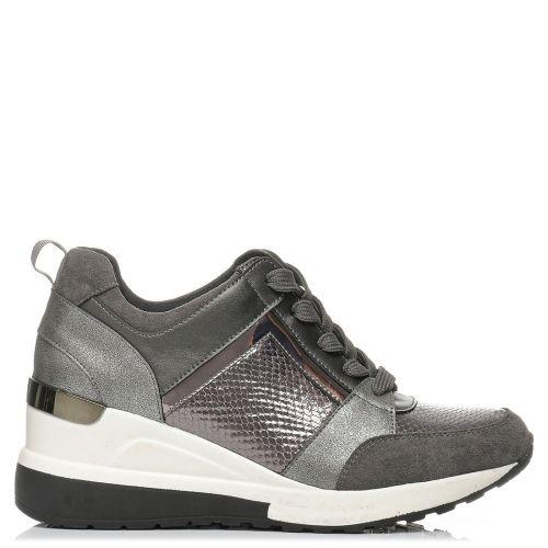 Pewter metallic sneaker