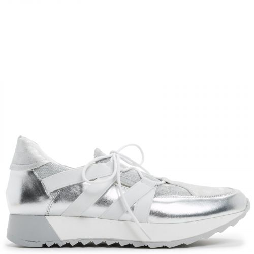Silver elastic sneaker