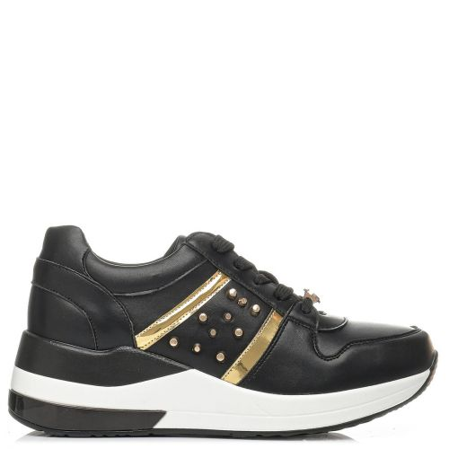 Black sneaker with studs