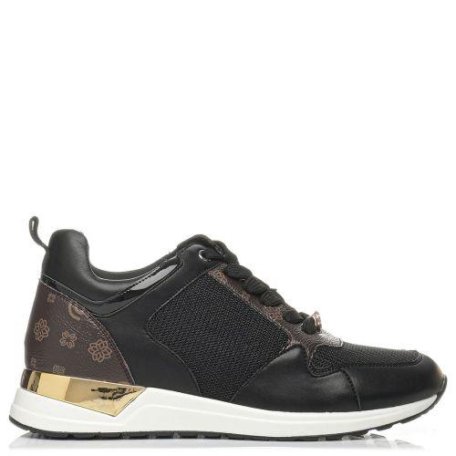 Black metallic sneaker